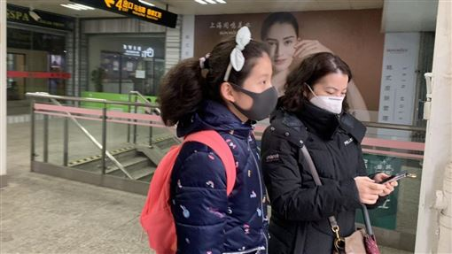 上海路人,武漢肺炎,記者谷庭攝影