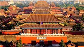 北京故宮博物院閉館▲。(圖/翻攝自微博)