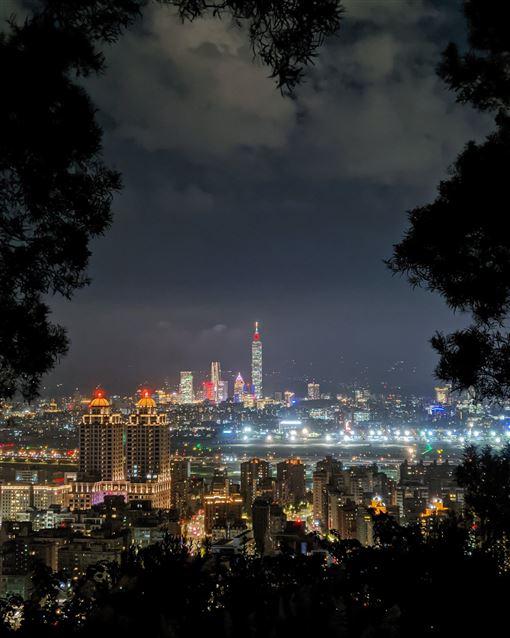 ▲台北大直劍南山夜景(圖/熊明龍授權提供)
