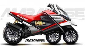 ▲Blade Bike直列三輪機車。(圖/翻攝網站)