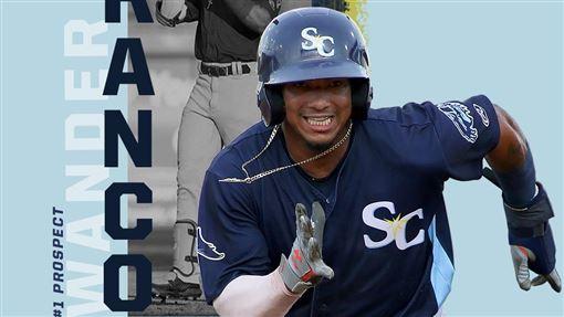 ▲光芒游擊手法蘭柯(Wander Franco)是2020年百大新秀第1名。(圖/翻攝自Minor League Baseball推特)