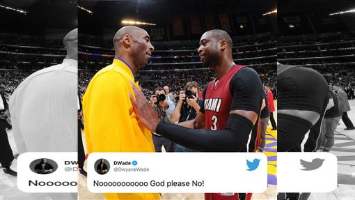 ▲『小飛俠』布萊恩(Kobe Bryant)死於墜機意外,『閃電俠』韋德(Dwyane Wade)推特發文。(圖/翻攝自SportsCenter推特)