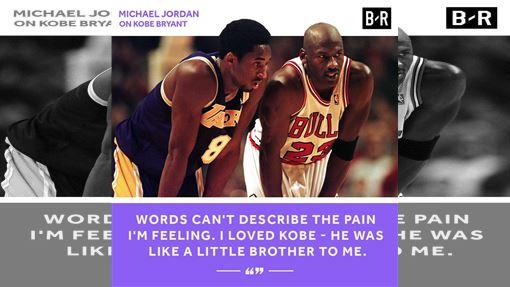 ▲「小飛俠」布萊恩(Kobe Bryant)死於空難,「籃球之神」喬丹(Michael Jordan)發文哀弔。(圖/翻攝自Bleacher Report推特)