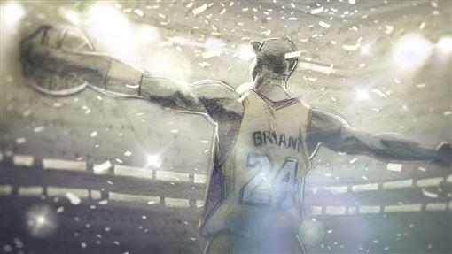 Kobe以《親愛的籃球》奪得奧斯卡獎。(圖/翻攝自YouTube)