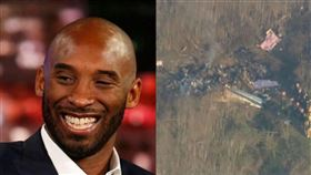 柯比墜機身亡,直升機,Kobe Bryant(合成圖/翻攝自推特、AP授權)