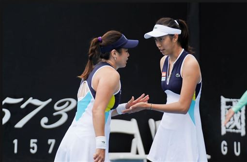 ▲詹詠然、詹皓晴挺進澳網女雙8強。(圖/翻攝自推特)
