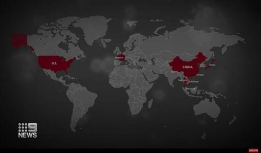 澳洲電視台報導武漢肺炎,把「台北」當中國城市,駐雪梨辦事處抗議。(組圖/翻攝自Taiwan in Sydney臉書、澳洲電視台Nine News Austraia)