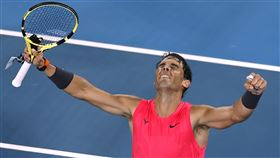 ▲Rafael Nadal晉級澳網8強。(圖/美聯社/達志影像)