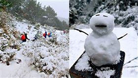 嘉明湖下雪