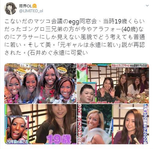 人氣109辣妹「ゴングロ3兄弟withU」成員,包括「あこ吉」以及「水野祐香」 圖/翻攝自推特