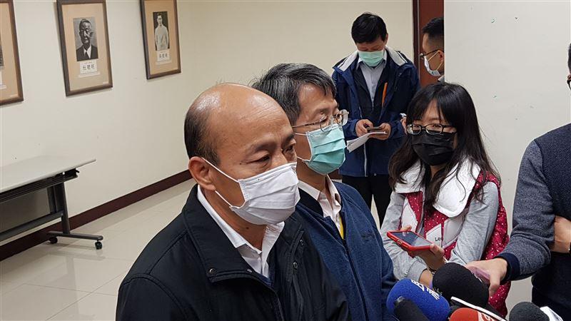 口罩限制出口爭議 韓國瑜首度表態