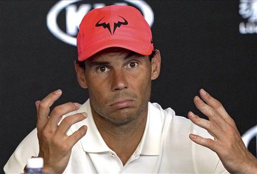 ▲Rafael Nadal在澳網男單8強止步。(圖/美聯社/達志影像)