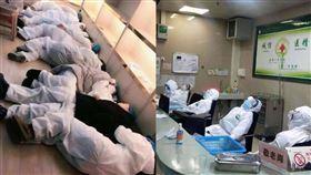 武漢肺炎一線醫護人員帶尿布上班(圖/翻攝自微博)