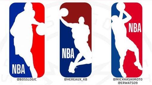 不少網友熱心自製Kobe形象的新標誌。(圖/翻攝自推特)