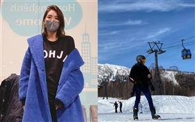 小禎,滑雪,口罩/胡小禎臉書