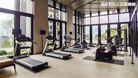 社區健身房。(圖/記者陳韋帆攝影)