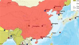 美國國務院,中國,武漢肺炎,旅行,台灣,地圖(圖翻攝自美國國務院官網