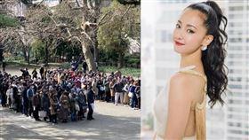 今澤尻英龍華出庭應訊,排隊旁聽者竟超過2千多人。(圖/翻攝自推特)