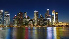 新加坡,夜景,城市,河,熱鬧(圖/翻攝自Pixabay)