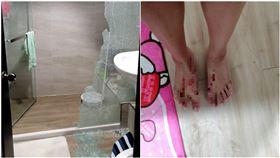 洗澡到一半…浴室玻璃突炸裂!網曝恐怖真相:這冬天最常見(圖/翻攝自爆料公社)