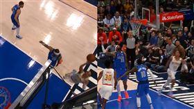NBA/投進神奇一擊!楊恩扭傷退場 NBA,亞特蘭大老鷹,Trae Young,受傷 翻攝自推特