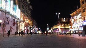 武漢肺炎來襲 北京王府井步行街幾乎沒