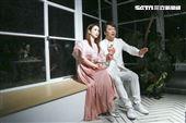 陳小菁、袁小迪合作音樂錄影帶拍攝。(圖/記者林士傑攝影)