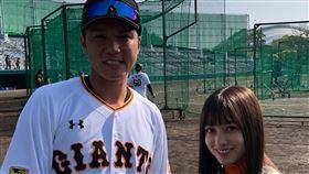 ▲橋本環奈(右)將擔任巨人隊開幕戰開球嘉賓。(圖/翻攝自巨人隊推特)