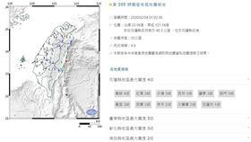中央氣象局地震報告,地震報告,中央氣象局,地震,花蓮