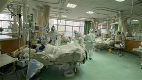 武漢肺炎,醫院,隔離(圖/翻攝自微博)
