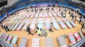 中國臨時隔離醫院。(圖/翻攝自人民日報臉書)