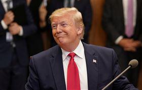 美國總統川普,笑容,微笑,跩,囂張 圖/路透社/達志影像