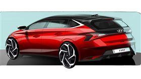 ▲現代汽車Hyundai i20設計草圖。(圖/翻攝網站)