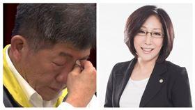 康裕成,陳時中,武漢肺炎,落淚(圖/資料照、翻攝自康裕成臉書)
