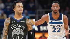 Russell與Wiggins將互換東家。(合成圖/翻攝自推特)