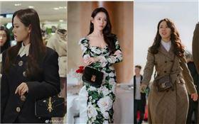 ▲孫藝真(孫藝珍)在韓劇《愛的迫降》中,背著CELINE/MIU MIU/Gucci/FENDI/Chanel/Longchamp包款。(圖/翻攝自微博)