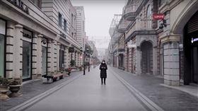 武漢封城24小時實況曝…街上空無一人 網嘆:彷彿空城 林晨,漢街 圖/翻攝自林晨同學Youtube