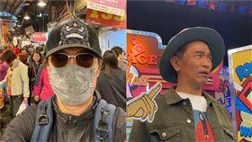黃安,台獨剋星,吳宗憲,口罩。圖 微博、記者方佳琳攝影