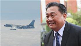 中共軍機、王定宇(組合圖/國防部提供、記者林士傑攝影)