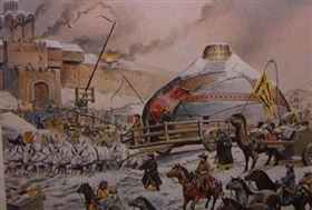 蒙古軍隊用投石機攻城