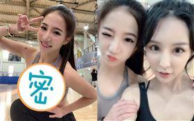 ▲蛇姬林采緹與雪碧一起打籃球。(圖/翻攝自林采緹臉書)