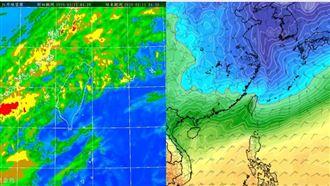 今回暖零星雨 週四後2鋒面接力報到