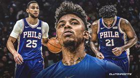 NBA/費城雙少爆拆夥 尼克楊說… NBA,費城七六人,Joel Embiid,Ben Simmons,Nick Young 翻攝自推特ClutchPoints