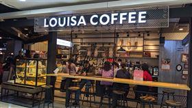 家樂福內湖店美食街 LOUISA COFFEE 路易莎咖啡(記者翁堃泰攝影)