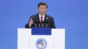 習近平出席進博會第二屆中國國際進口博覽會5日在上海國家會展中心舉行開幕式,中共總書記、中國國家主席習近平出席並發表主旨演講。(中新社提供)中央社 108年11月5日