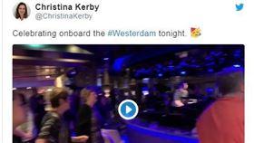 激勵乘客,威士特丹號,柬埔寨,美國女乘客,推特(twitter)