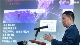空軍司令部督察長黃志偉少將說明有關UH-60M黑鷹直升機失事黑盒子解讀報告。(記者邱榮吉/攝影)