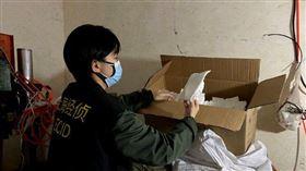 武漢肺炎,上海,口罩,工廠,山寨(圖/翻攝自微博)