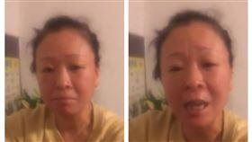 針對疫情失控問題,一名武漢婦人日前錄製兩分鐘影片控訴當局說謊。(組合圖,翻攝網路)
