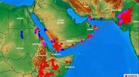 ▲ 各型態的蝗蟲分布圖,以及沙漠蝗蟲遷徙圖。(圖/聯合國糧農組織提供)